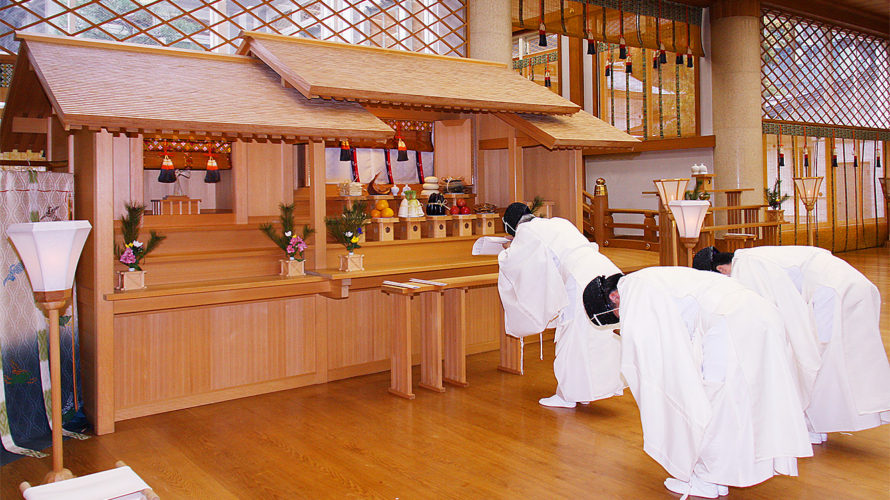 祖霊舎参拝